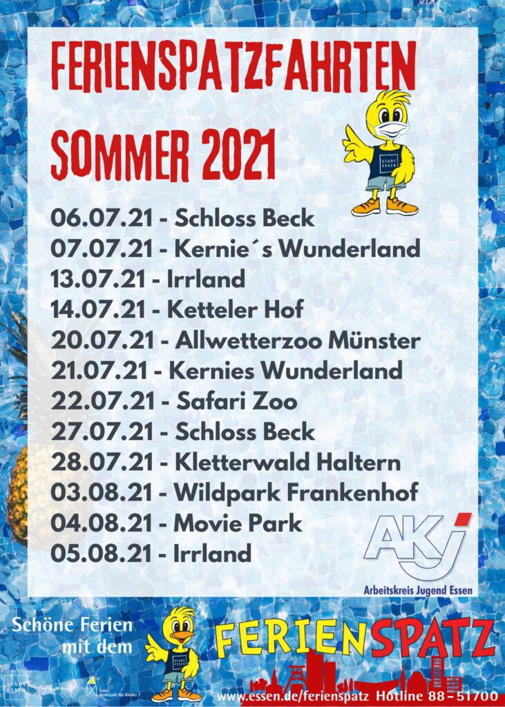 Flyer Ferienspatzfahrten Sommerferien